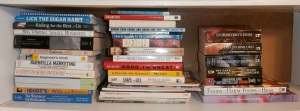 "The ""To Read"" pile of nonfiction books"