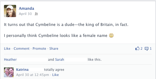Cymbeline is the king of Britain