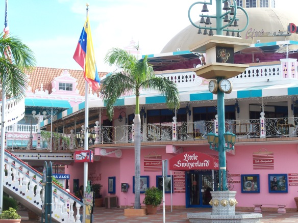 A shopping center on Aruba
