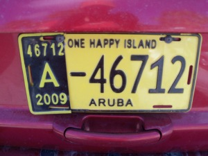 Aruban license plate