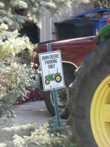 John Deere Parking Only