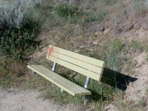 A green bench