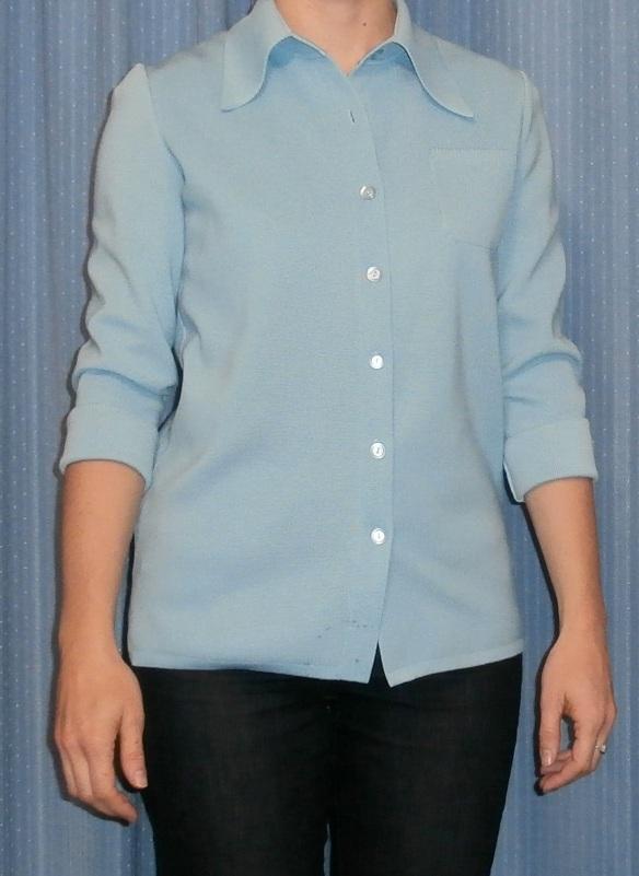 blue polyester jacket