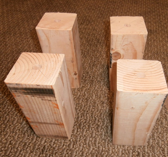 Wooden blocks for bed risers