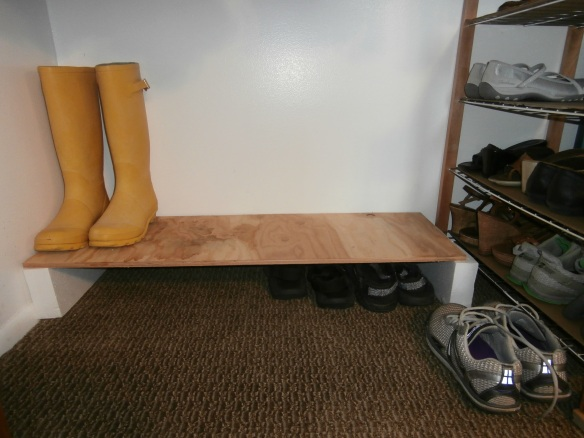 My improved shoe rack