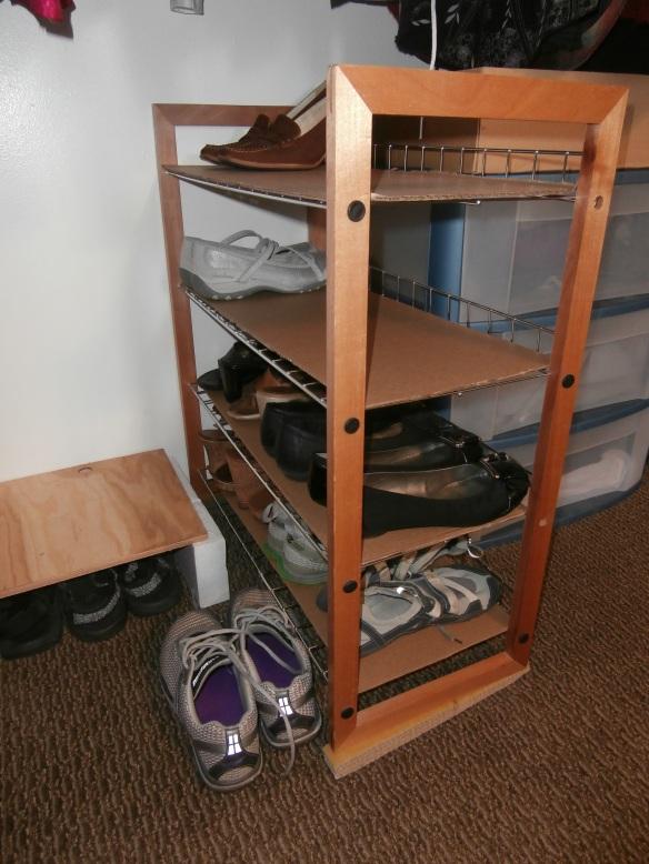My improved shoe rack