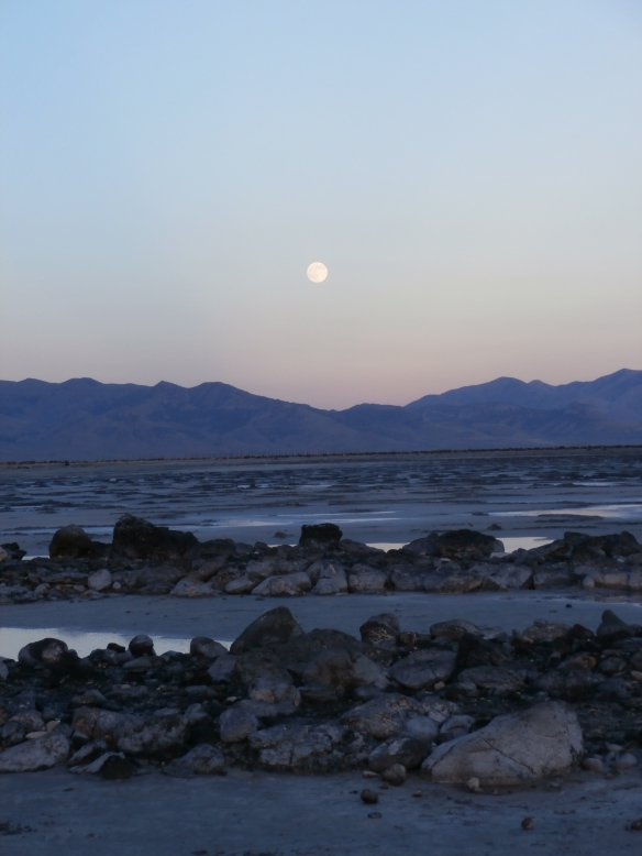 Moonrise at Spiral Jetty