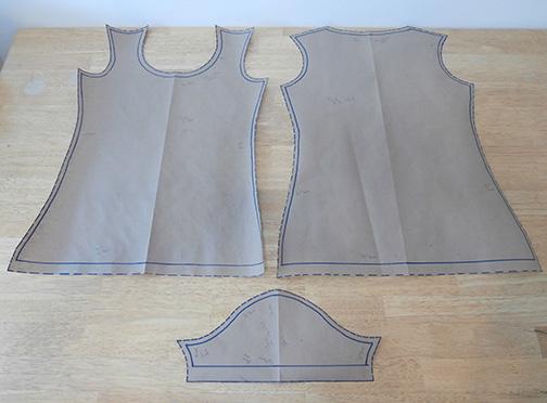 A paper tee shirt pattern