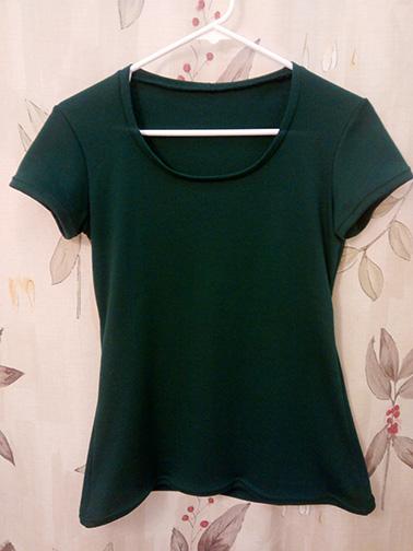 A green tee shirt