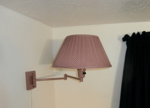Old pink wall lamp