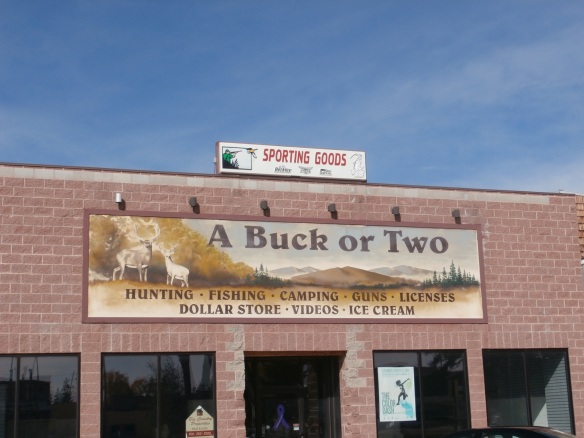 Sign for a sporting goods store
