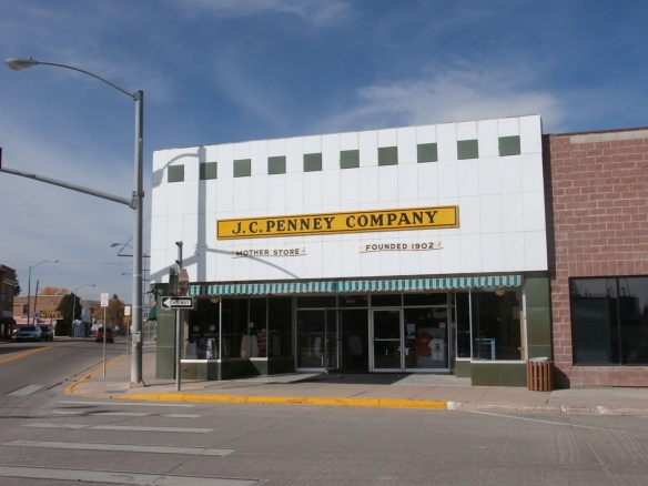 The original J. C. Penney store in Kemmerer, Wyoming
