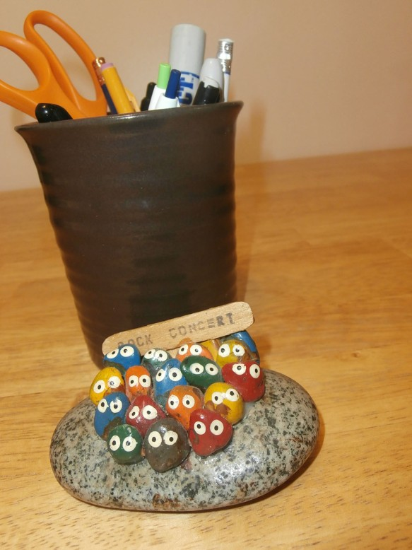 A decoration made of small rocks