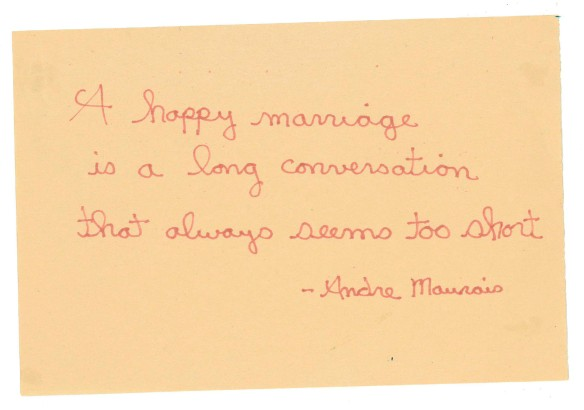 A quotation about love