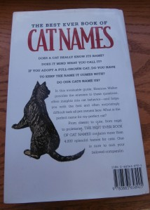 A book about cat names