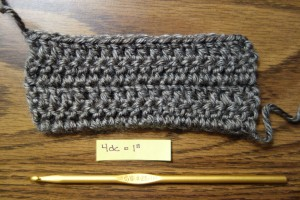 Crocheted swatch of Lion Brand Heartland