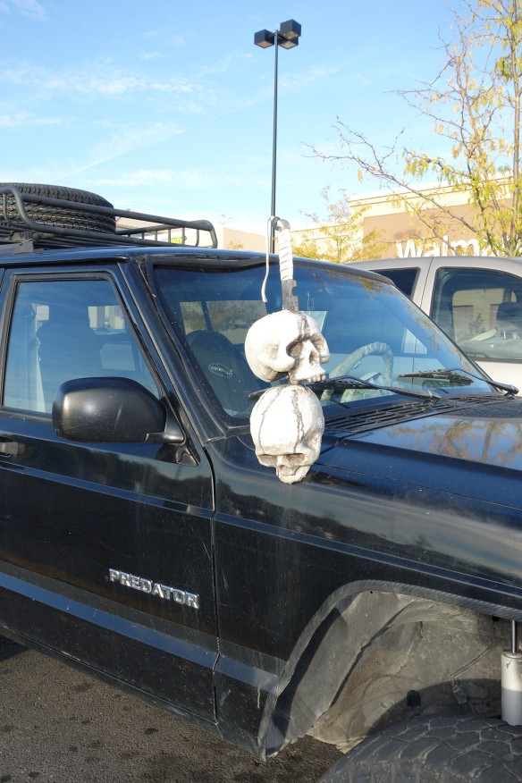 A Jeep Predator adorned with skulls