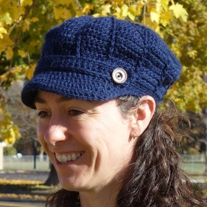 A cap crocheted with Patons Classic Wool DK Superwash yarn