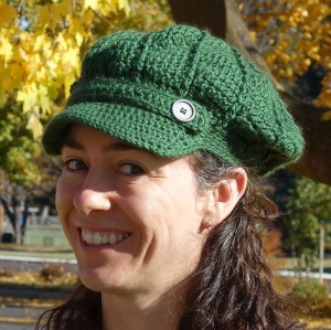 A cap crocheted with Caron Simply Soft yarn