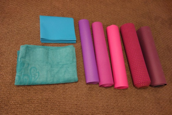A collection of seven yoga mats