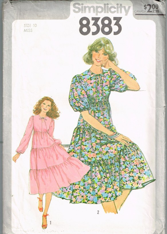 Simplicity 8383 Misses Dress pattern