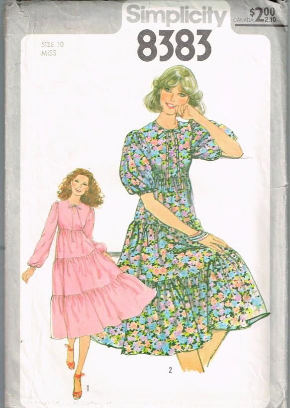 Simplicity 8383 Misses Dress pattern