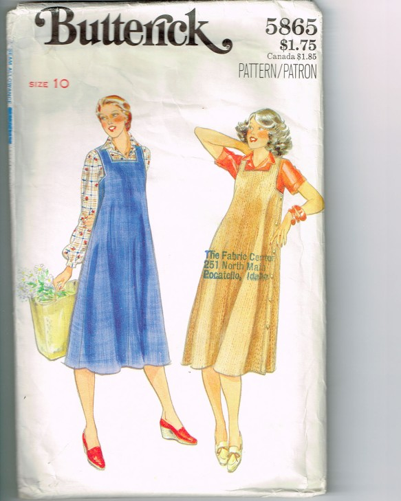 Butterick 5868 Misses Jumper sewing pattern