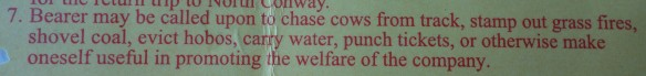Entertaining policy for riding the Conway Scenic Railroad