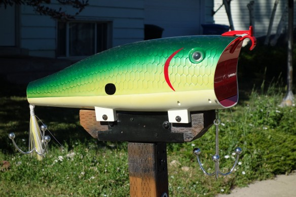 A mailbox shaped like a fish
