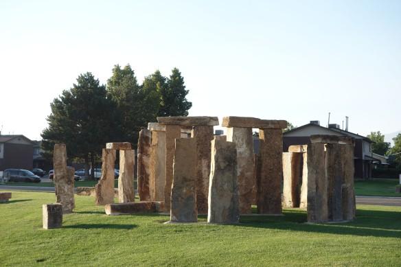 A miniature Stonehenge