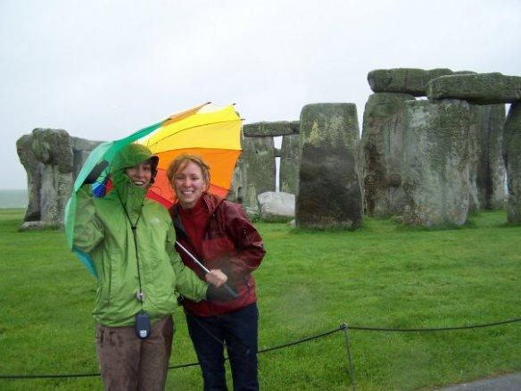 My sister and I at Stonhenge