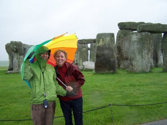 My sister and I at Stonhenge