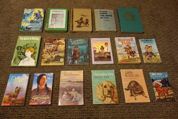 A photo of kid and young adult books about the Old West