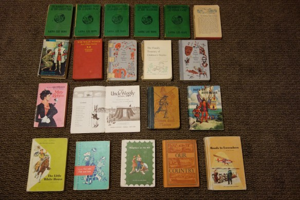 A collection of vintage children's novels and basic readers