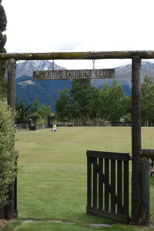 Sign for Wakatipu Croquet Club