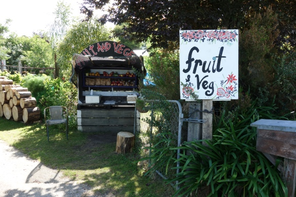 A farm stand near Abel Tasman national park